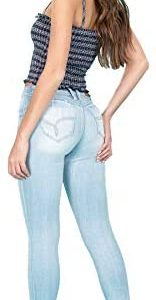 YMI Jeanswear Juniors' Mid-Rise Super Soft Wannabettabutt Skinny Jegging Jeans