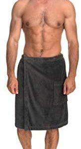 TowelSelections Men's Wrap, Shower & Bath, Terry Velour Towel