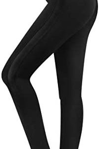 3W GRT Fleece Lined Leggings Women, Thermal Black Leggings for Women, Workout Leggings with Pockets
