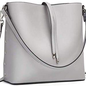 WESTBRONCO Women Handbags Vegan Leather Designer Shoulder Tote Purse Casual Hobo Crossbody Bucket Bags