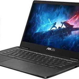 "2020 ASUS 14"" HD Display Chromebook Laptop Computer, Intel Celeron N3350 Processor, 4GB RAM, 32GB eMMC, Webcam, USB-C, Chrome OS, Grey, 128GB SnowBell USB Card"