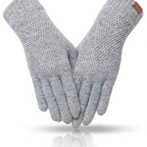 MAJCF Winter Gloves for Women Cold Weather,Touch Screen Gloves Dual-layer Elastic Thermal Warm Gloves Acrylic Cashmere Lining