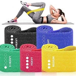 Allvodes Resistance Bands for Women Butt and Legs, Booty Bands, Non Slip Elastic Exercise Workout Bands