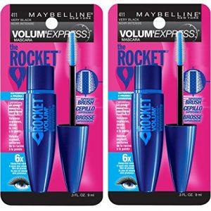 Maybelline New York Volum' Express The Rocket Waterproof Mascara Makeup, Very Black, 2 Count
