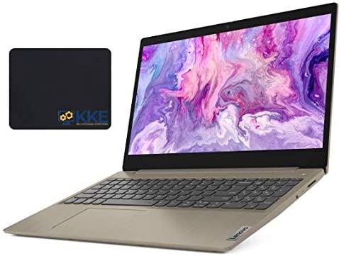 "2020 Newest Lenovo Ideapad 3 Laptop, 15.6"" HD Touchscreen, 10th Gen Intel Core i3-1005G1 Processor, 20GB RAM, 1TB SSD, Webcam, Wi-Fi, Online Class, Zoom Meeting, Windows 10 Home, KKE Bundle, Almond"